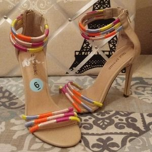 Call It Spring Colorful Strappy Heels
